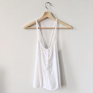 Cloth & Stone White Button Tank Top Anthropologie